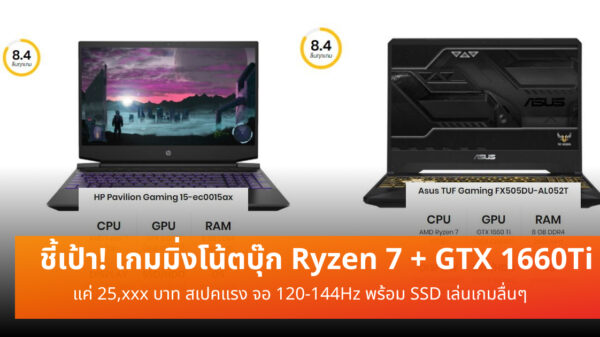 Gaming notebook Ryzen7 GTX1660Ti cov