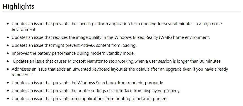 Windows Update KB4535996 2