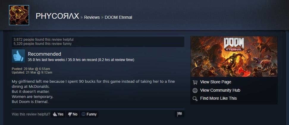 doom eternal funny review