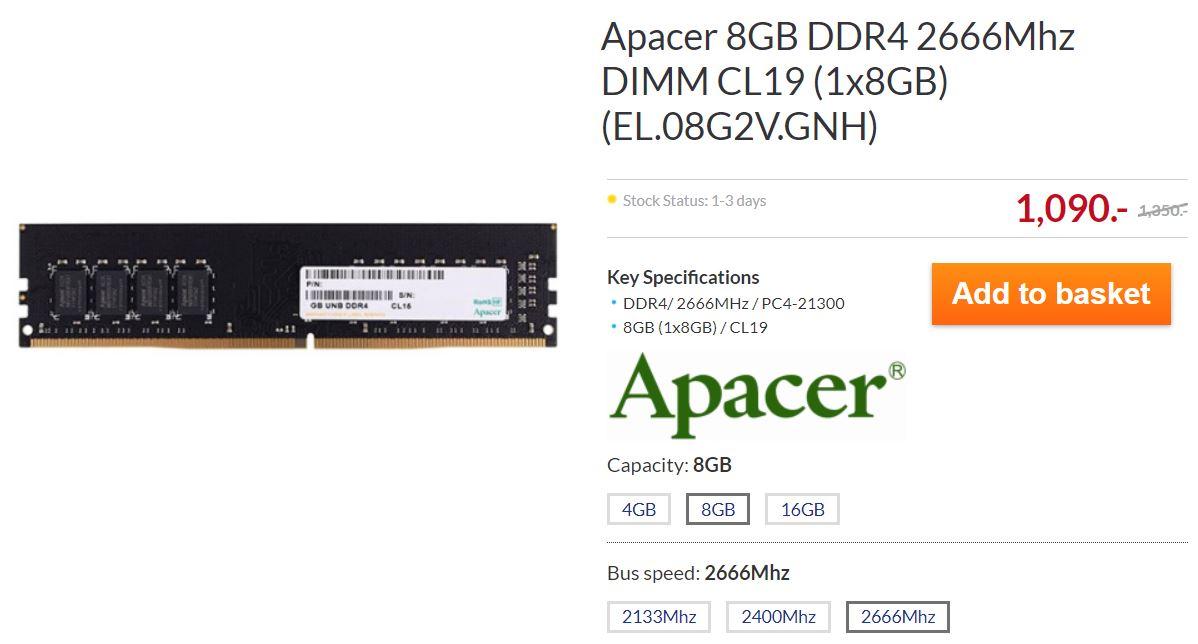 Apacer DDR4 2666 8GB