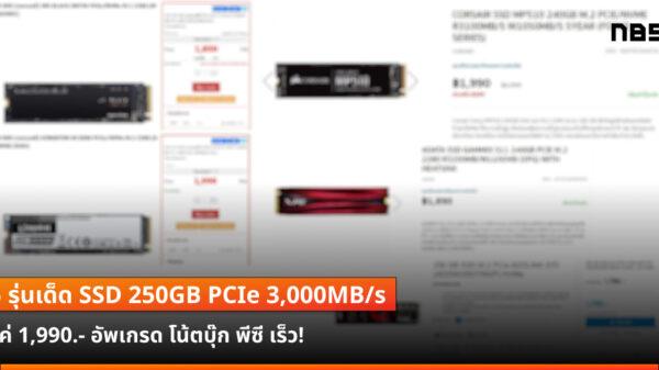 SSD PCIe 250GB 3000MBps 1900B cov2