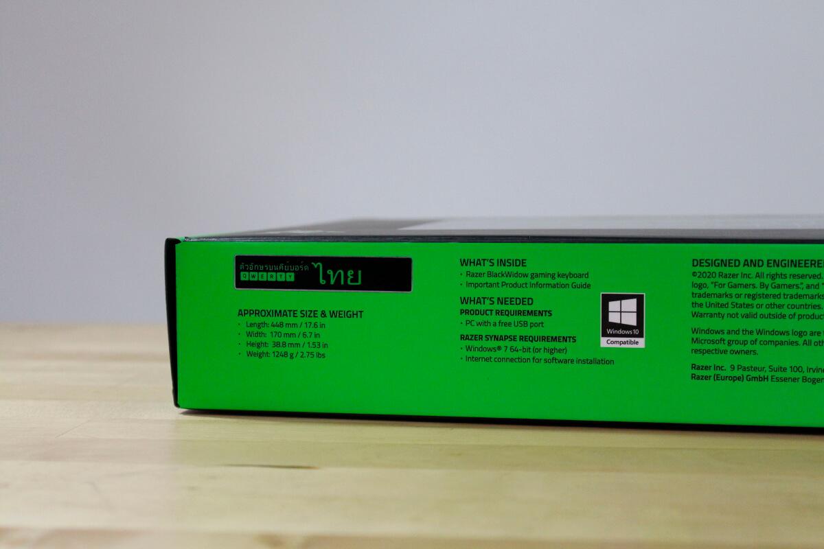 Razer Blackwidow Yellow switch 8