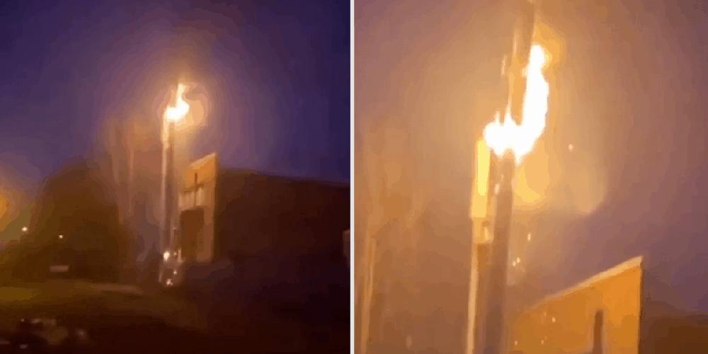 UK 5G TOWERS SET FIRE APRIL 2020