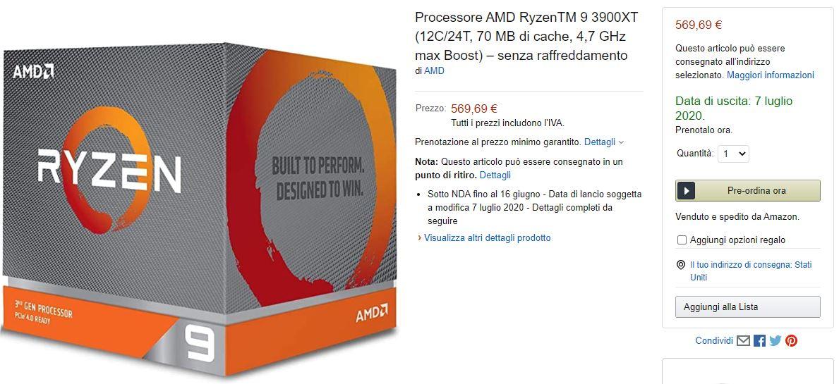 AMD Ryzen 3000XT Amazon 2