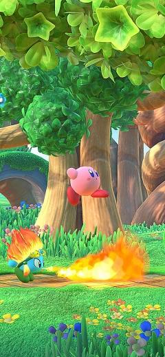 Kirby Star Allies Nintendo iPhone wallpaper