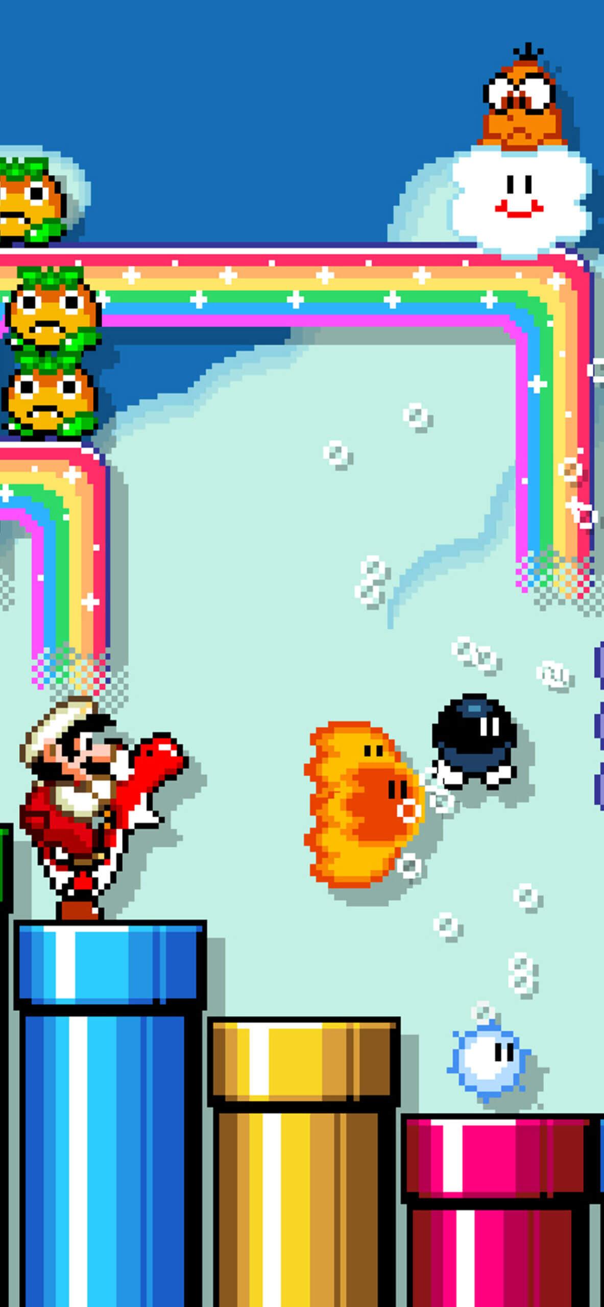 Super Mario Maker 2 Nintendo iPhone wallpaper scaled