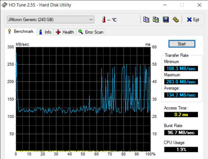 HD Tune 2.55 Hard Disk Utility 7 13 2020 3 58 47 PM