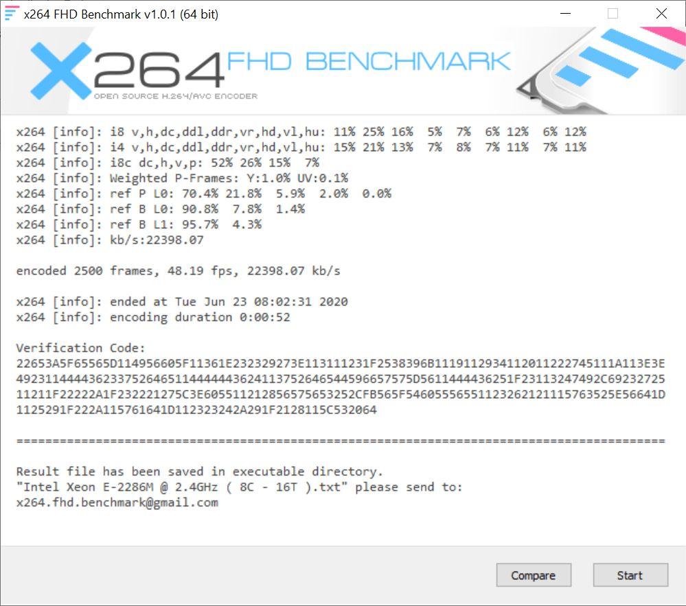X264 bench