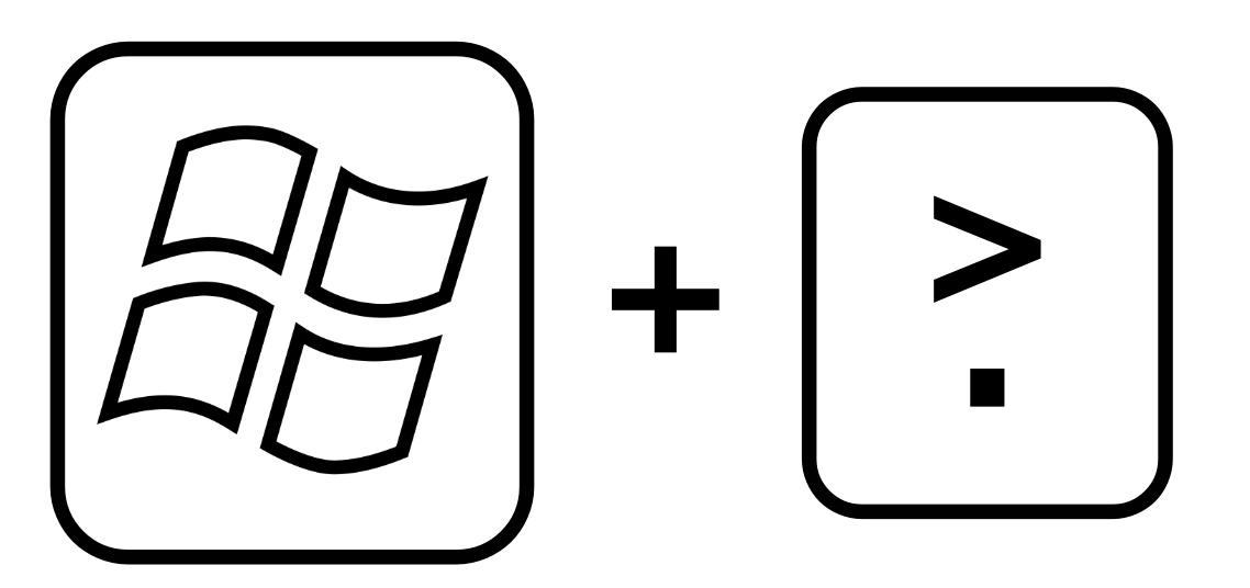 Emoji บน Windows 10