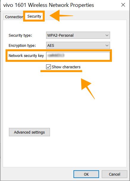 ดูรหัส WiFi Windows 10