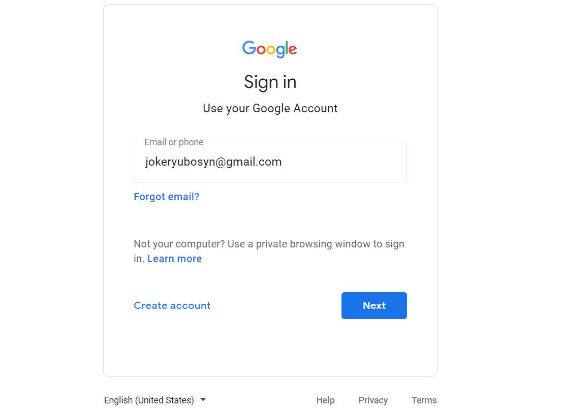สมัคร Gmail