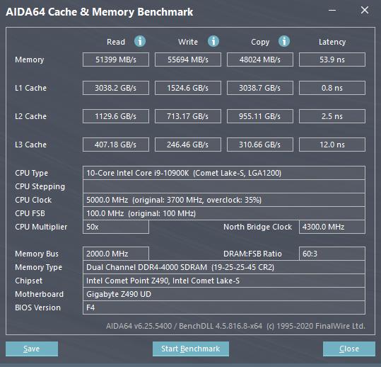 AIDA64 Cache Memory Benchmark 9 29 2020 11 57 21 AM