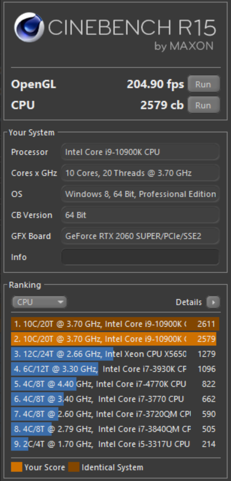 CINEBENCH R15.0 9 3 2020 3 01 44 PM
