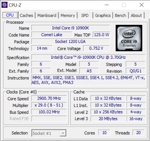 CPU Z 9 8 2020 10 04 29 AM