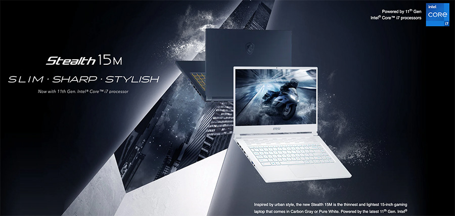MSI Stealth 15M top