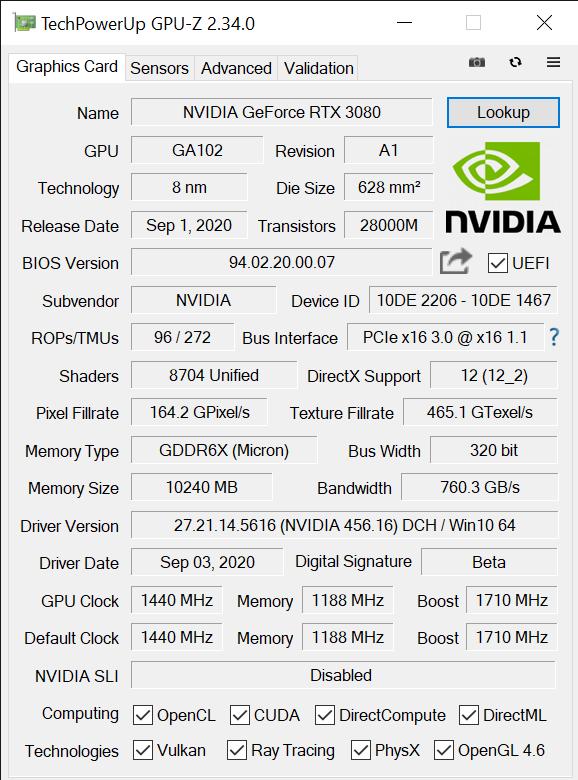TechPowerUp GPU Z 2.34.0 9 11 2020 3 12 43 PM
