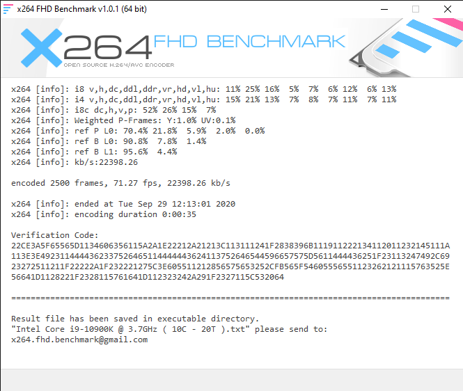 x264 FHD Benchmark 9 29 2020 12 20 26 PM