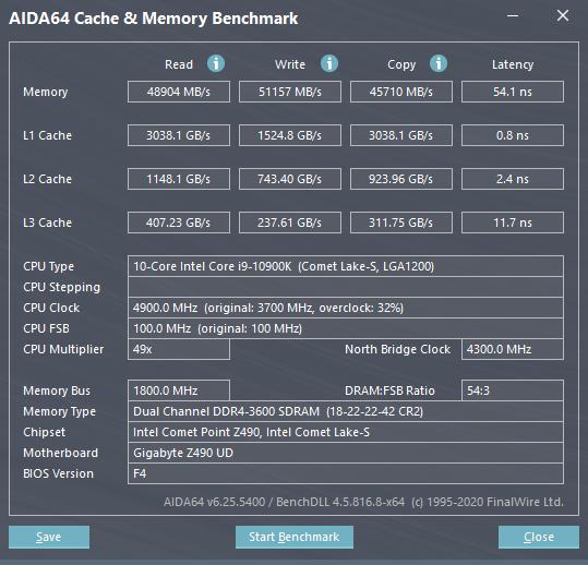 AIDA64 Cache Memory Benchmark 10 2 2020 1 02 41 PM