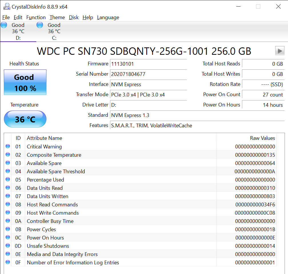 CrystalDiskInfo 8.8.9 x64 10 16 2020 2 45 42 PM