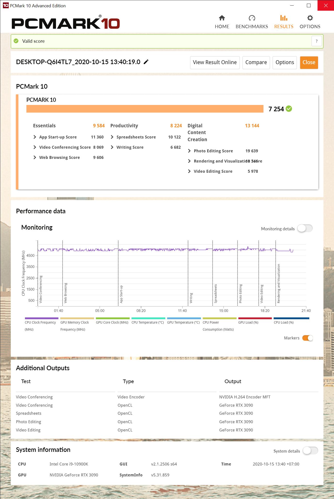 PCMark 10 Advanced Edition 10 15 2020 2 03 10 PM