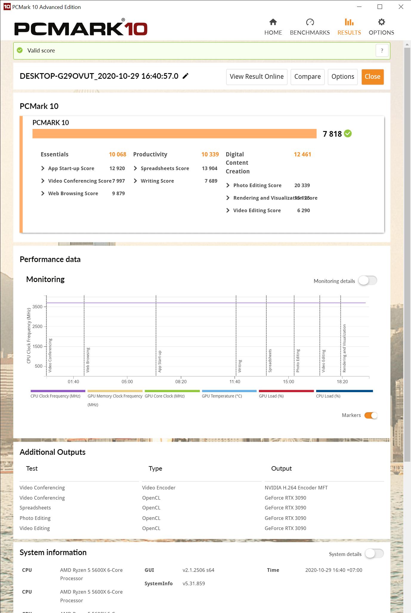PCMark 10 Advanced Edition 10 29 2020 5 02 21 PM