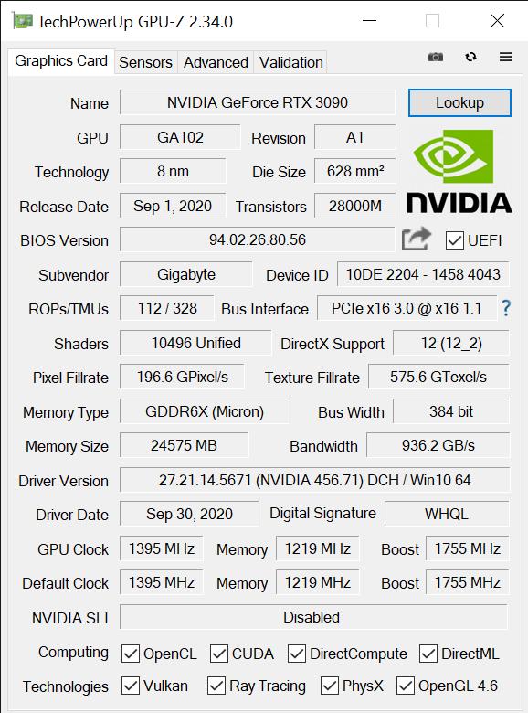 TechPowerUp GPU Z 2.34.0 10 15 2020 3 25 56 PM