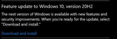 update windows 10