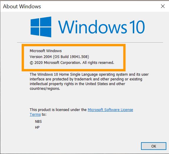 ดูเวอร์ชัน Windows 10 แท้