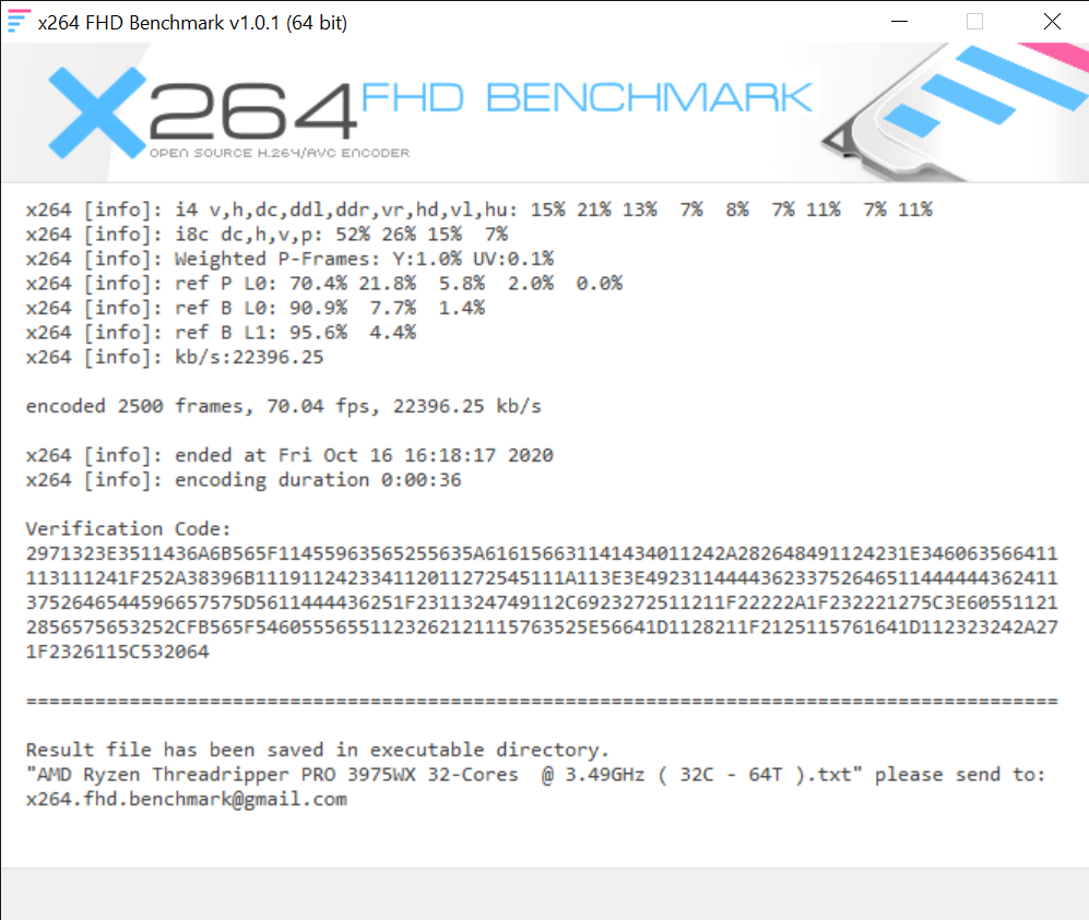 x264 FHD Benchmark 10 16 2020 4 18 56 PM