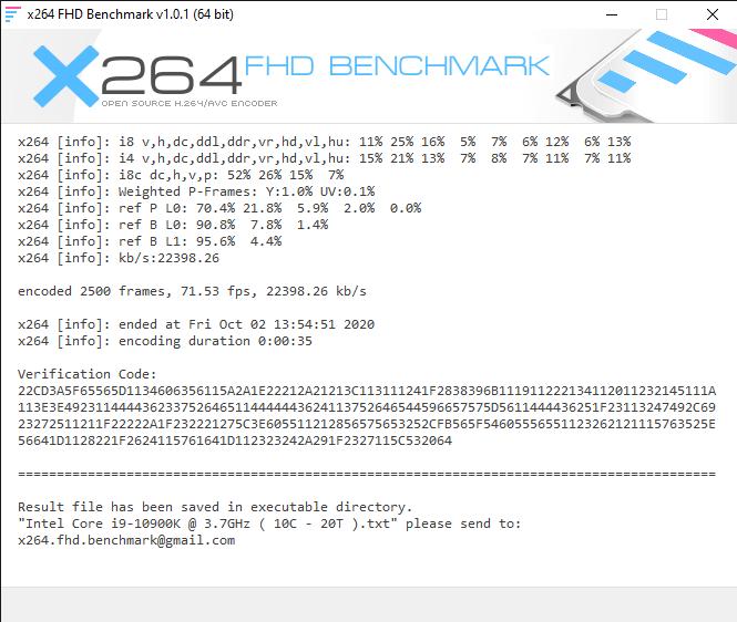 x264 FHD Benchmark 10 2 2020 1 56 31 PM