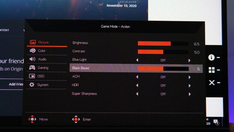Acer Predator XB253Q OSD 20 1