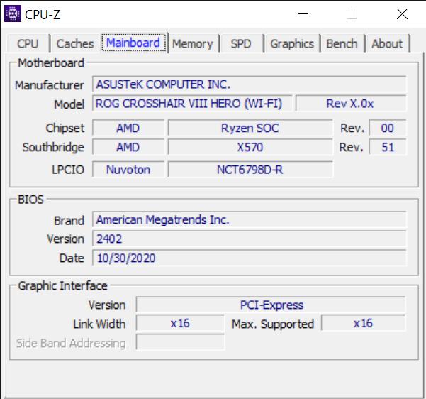 CPU Z 11 11 2020 1 49 04 PM