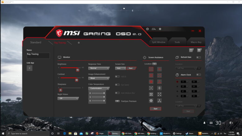 MSI Gaming OSD 18