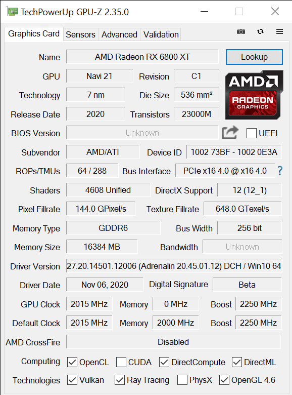 TechPowerUp GPU Z 2.35.0 11 11 2020 1 46 46 PM