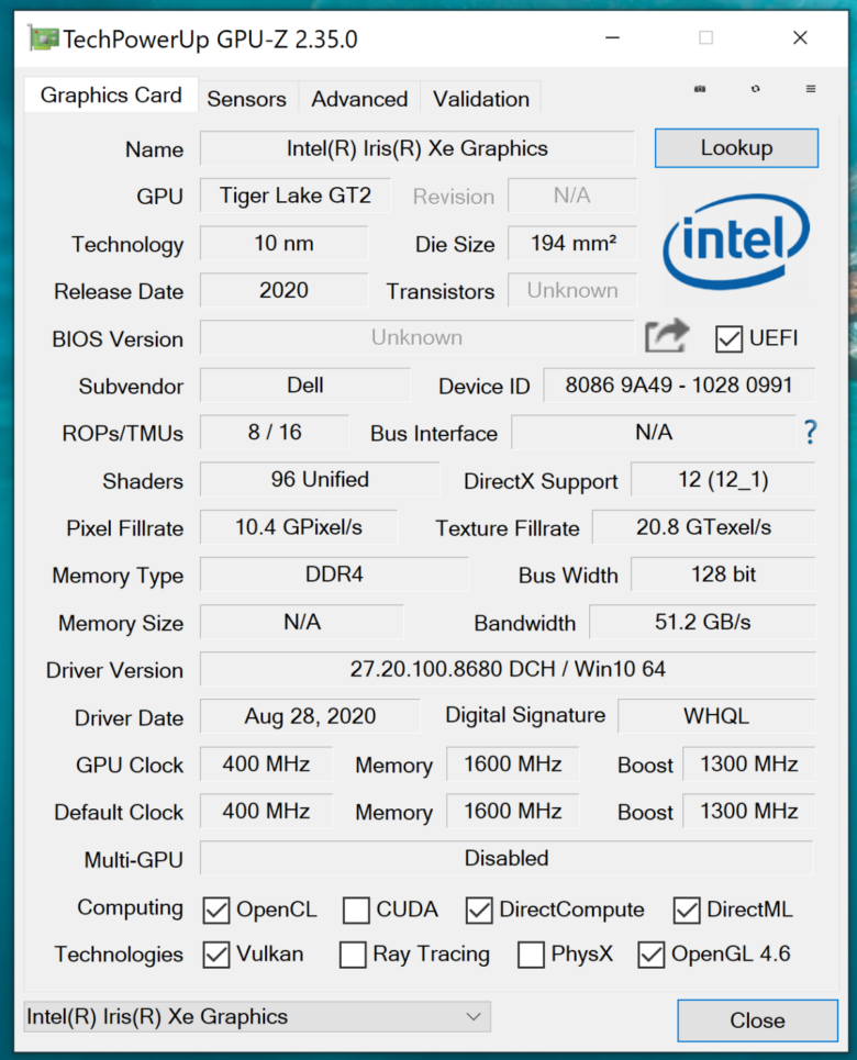 Test Dell XPS 13 9310 8