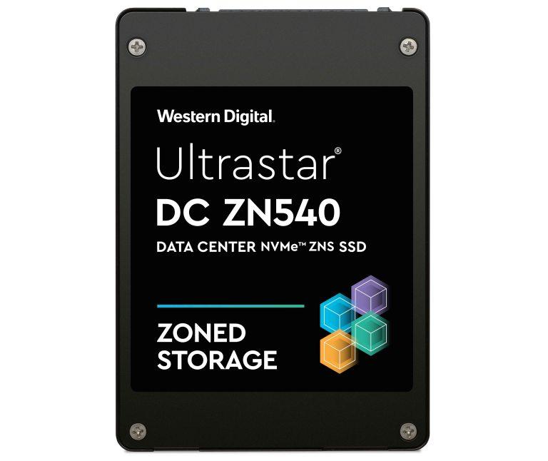 Ultrastar DC ZN540 NVMe ZNS SSD front HR