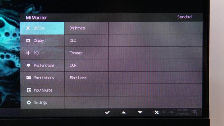 Xiaomi XMMNT27HQ OSD 1