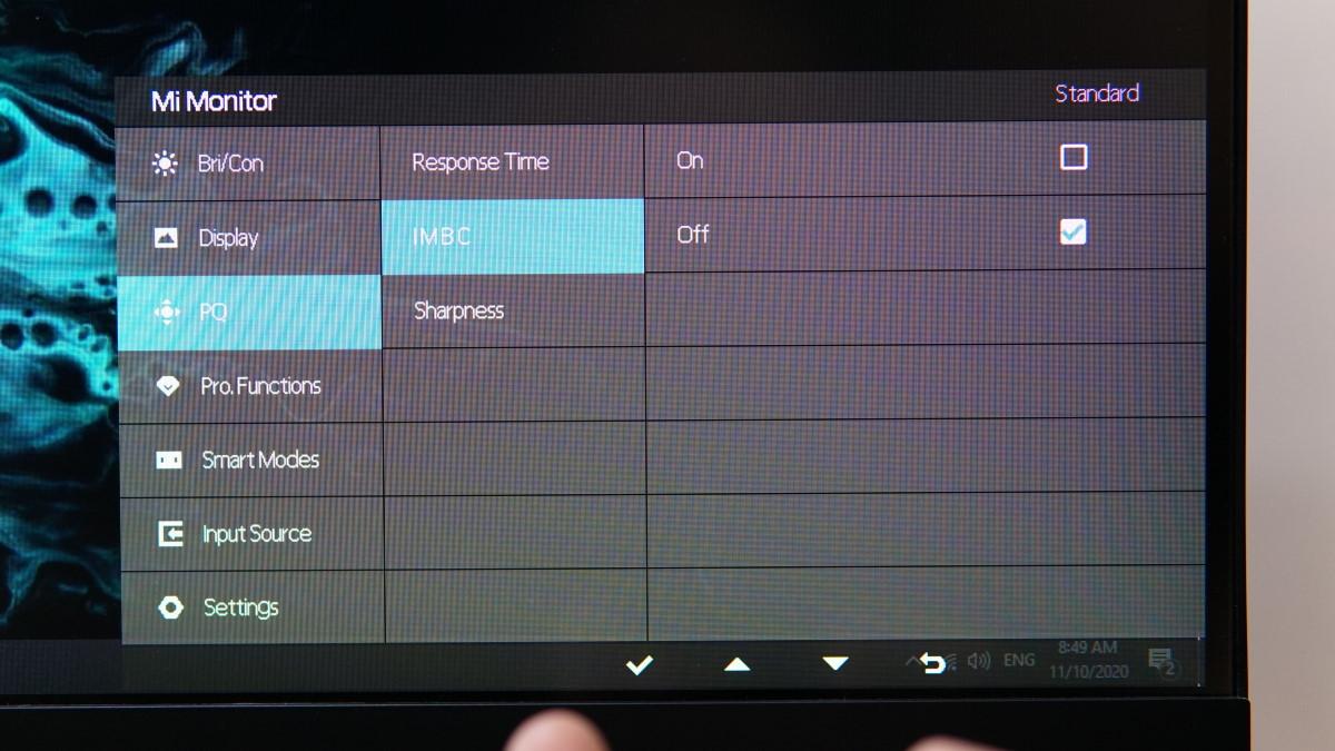 Xiaomi XMMNT27HQ OSD 10