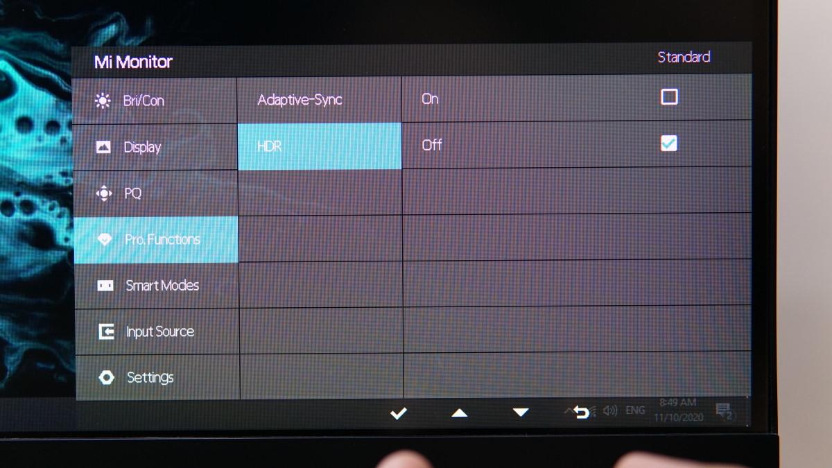 Xiaomi XMMNT27HQ OSD 12