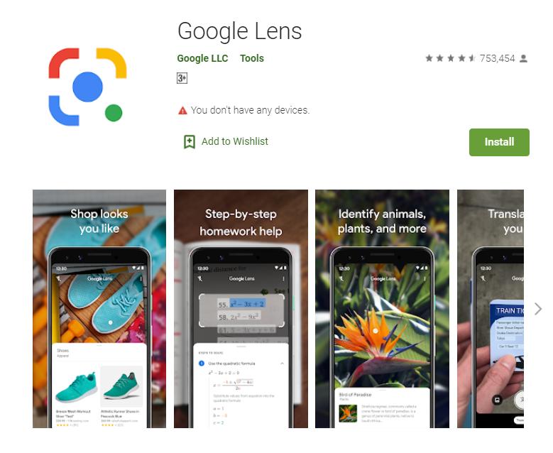 แอพแปลภาษา google lens