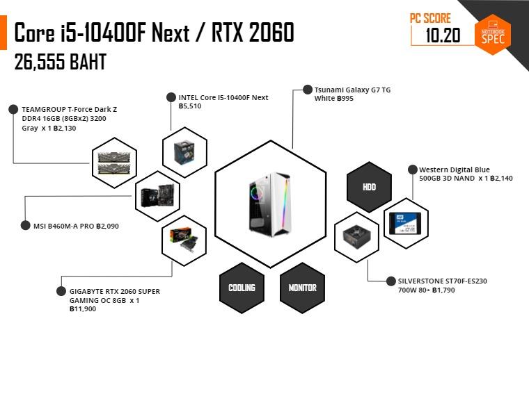 pc spec gaming 25000 Intel