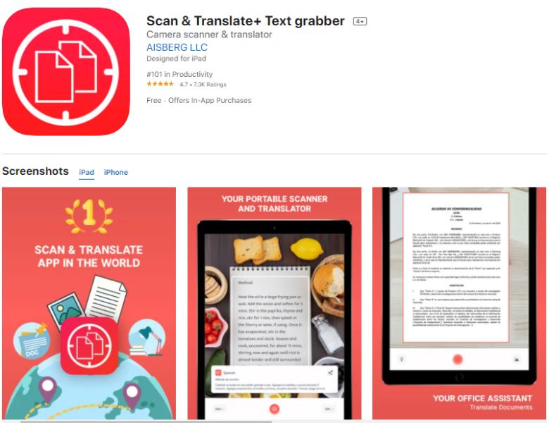 แอพแปลภาษา Scan & Translate