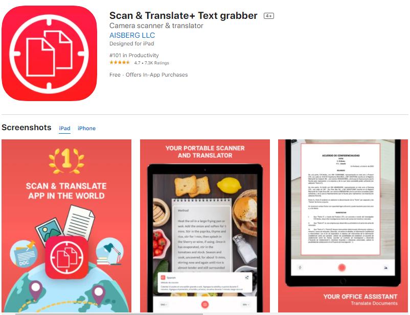 แอพแปลภาษาอังกฤษเป็นไทย Scan & Translate