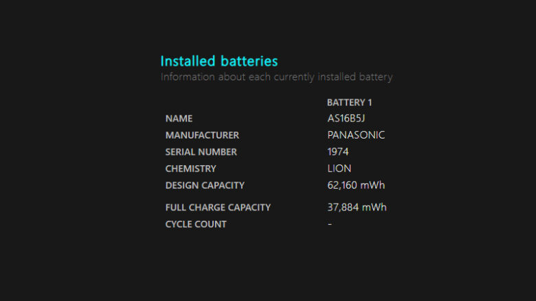 เช็คแบตเสื่อมโน๊ตบุ๊ค mac windows installed batteries
