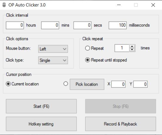 Auto Click โปรแกรมช่วยคลิกเมาส์