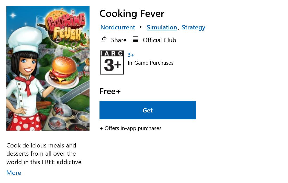 เกมทำอาหาร Cooking Fever