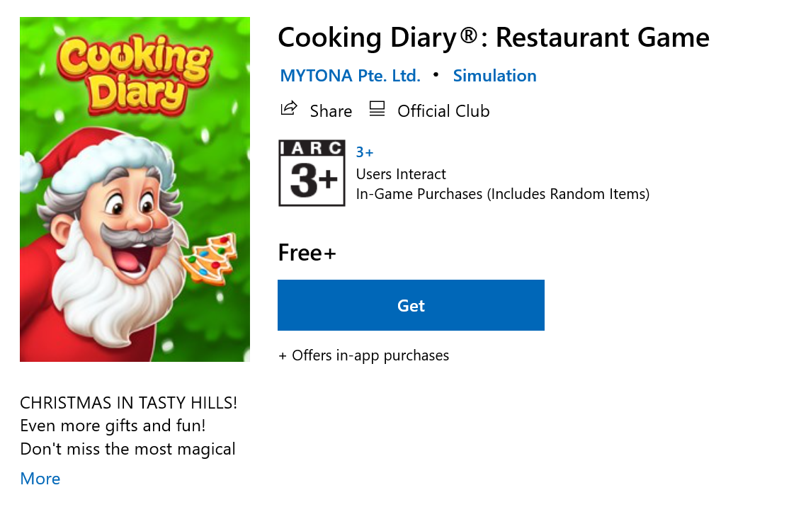 เกมทำอาหาร Cooking Diary