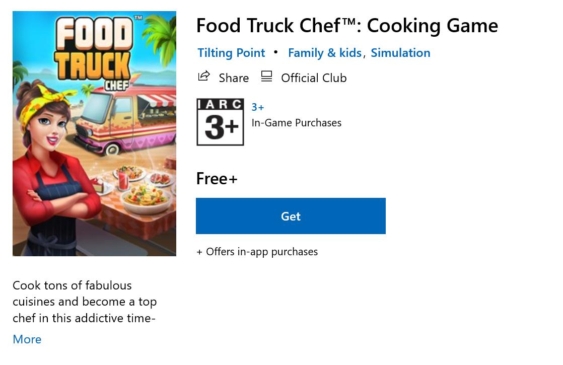 เกมทำอาหาร Food Truck Chef