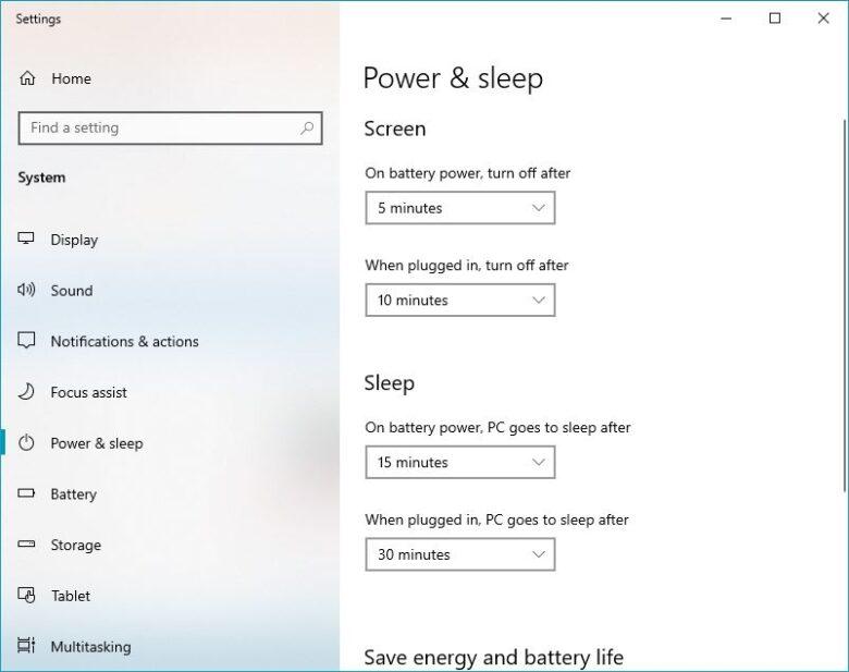 power and sleep