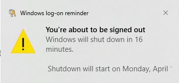 shutdown reminder 1
